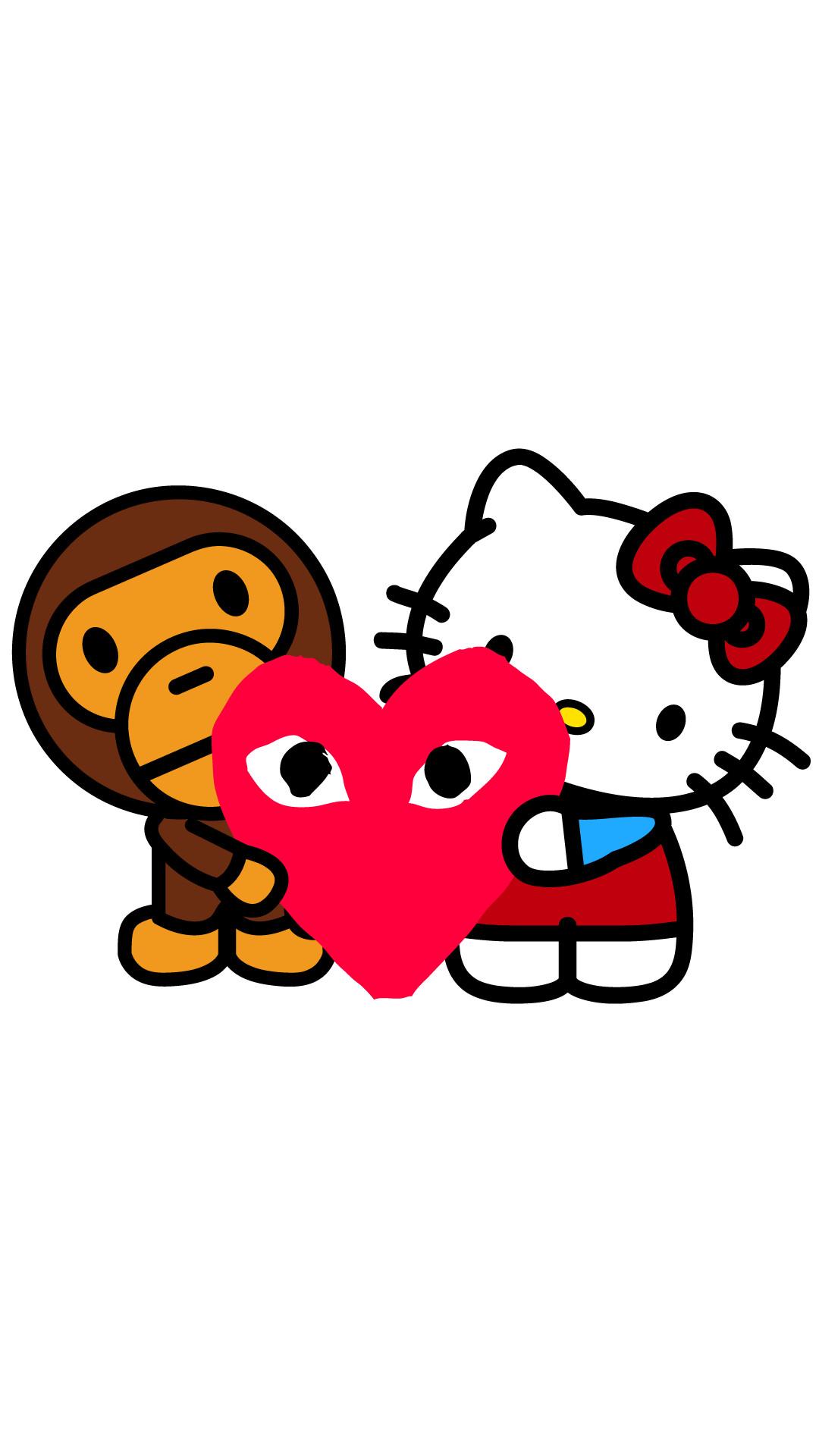 Bape Wallpaper Hd - Hello Kitty Bape Logo - HD Wallpaper