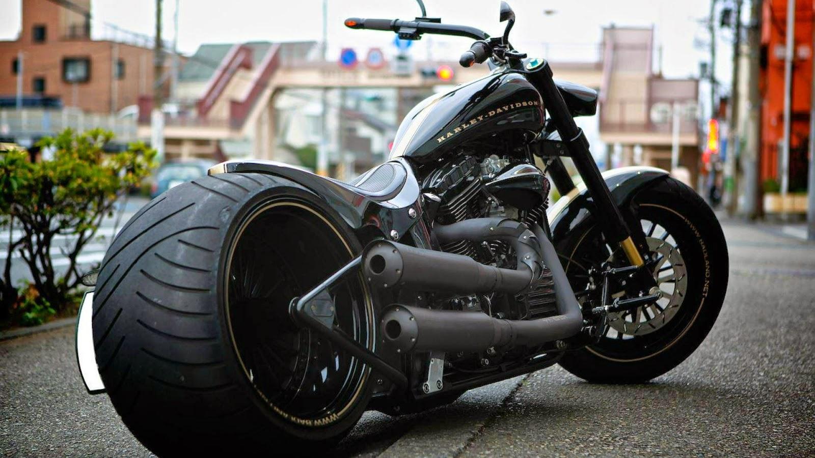 Moto Chopper Harley Davidson - HD Wallpaper