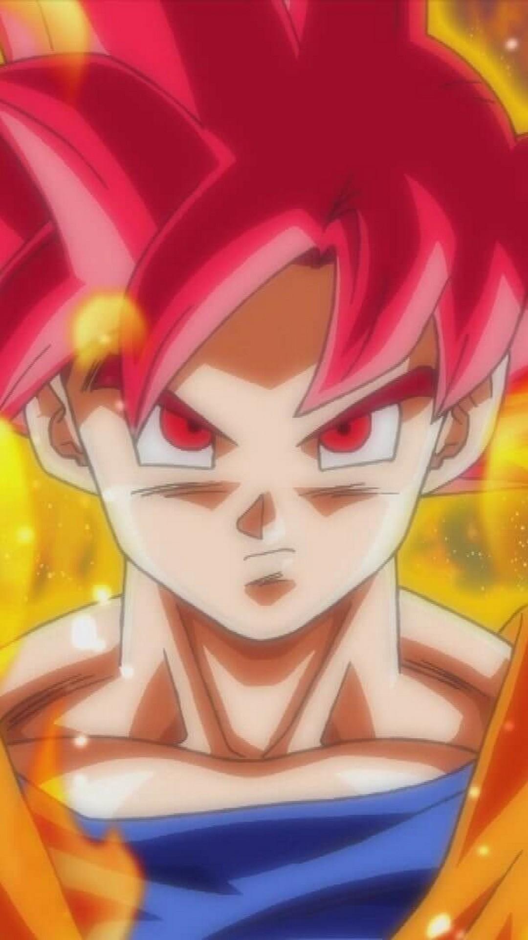 Iphone 7 Wallpaper Goku Super Saiyan God With Image Goku Super Saiyan Red 1080x1920 Wallpaper Teahub Io