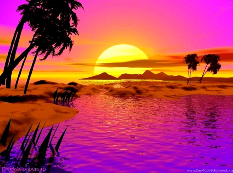 Animated Wallpapers For Desktop Windows Xp Free Download - Moving Animated Beach Background - HD Wallpaper