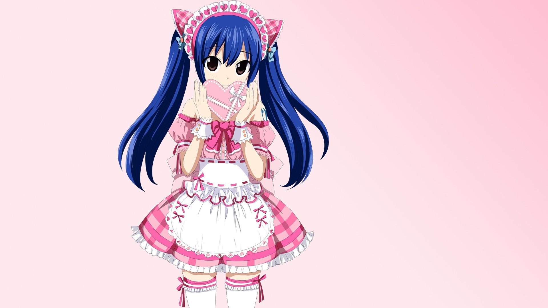 Anime Cute Fairy Tail - HD Wallpaper