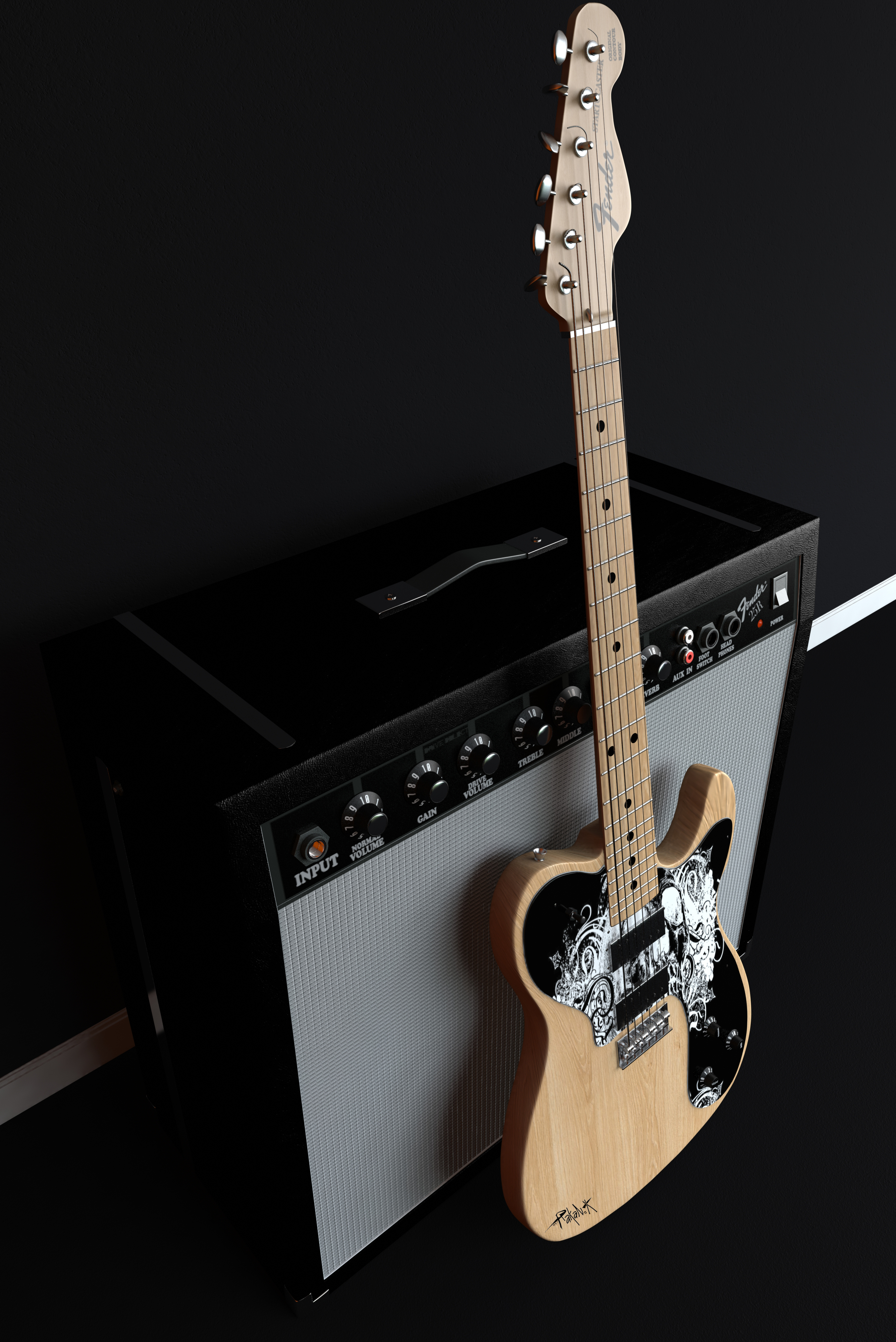 Wallpaper Fender Guitar Wallpaper Iphone 2671x4000 Wallpaper Teahub Io