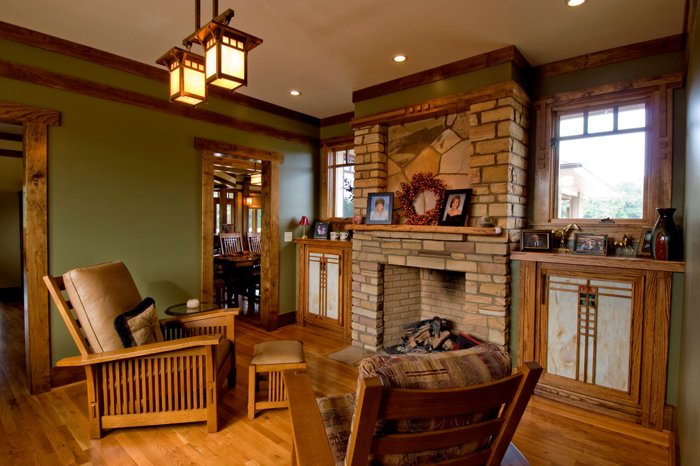 Craftsman Armchairs And With Victorian Wallpaper Family Decorating Mission Style Home 990x660 Wallpaper Teahub Io
