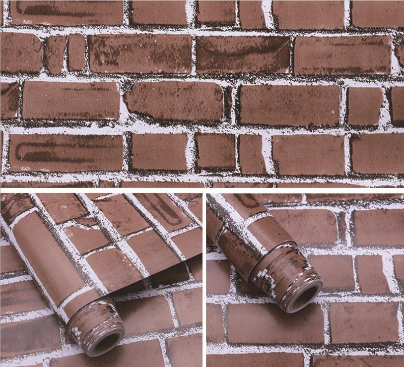 Pvc Film Wall Sticker New Price 3d Brick Wallpaper - Sticker - HD Wallpaper