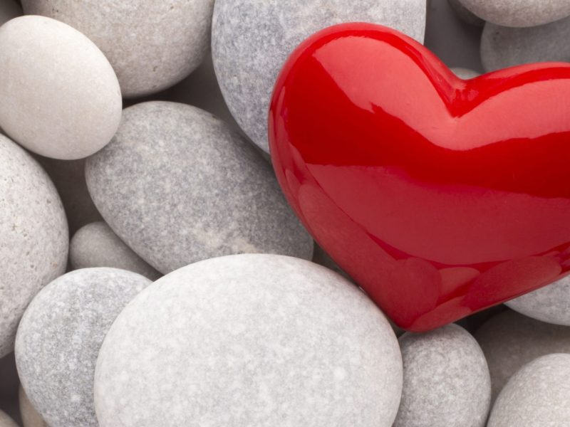 Red Heart And White Stones Love - Profile Love Whats App Dp For Whatsapp - HD Wallpaper
