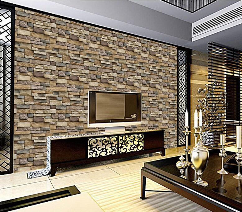 Self Adhesive Various Styles Of Brick Wallpaper Hotel - Brick Wall Stickers For Living Room - HD Wallpaper