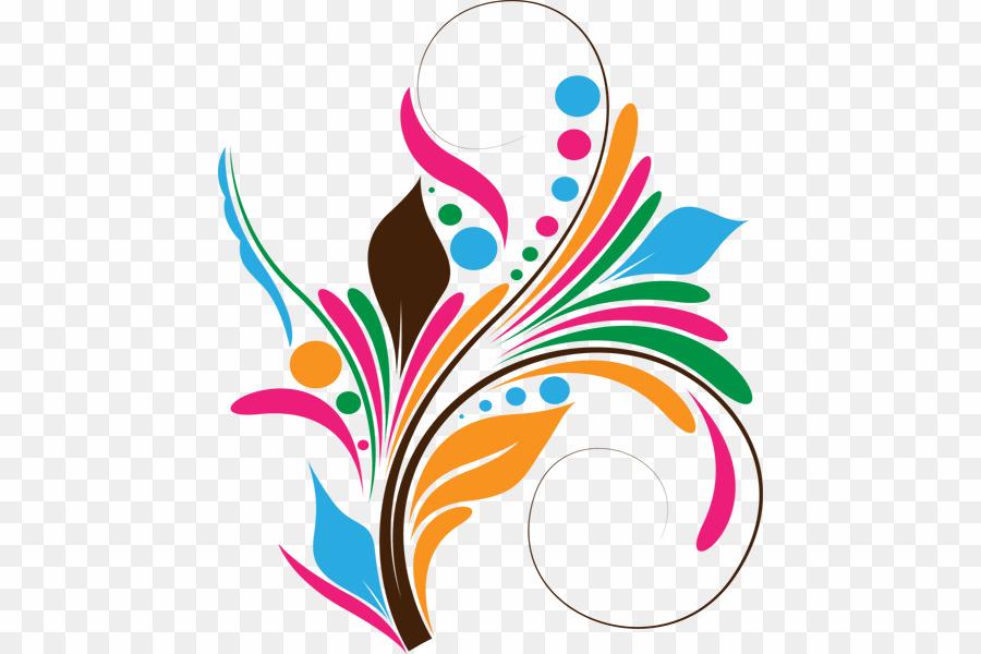 Abstract Design Png Hd Abstract Art Desktop Wallpaper - Floral Vector Art Png - HD Wallpaper