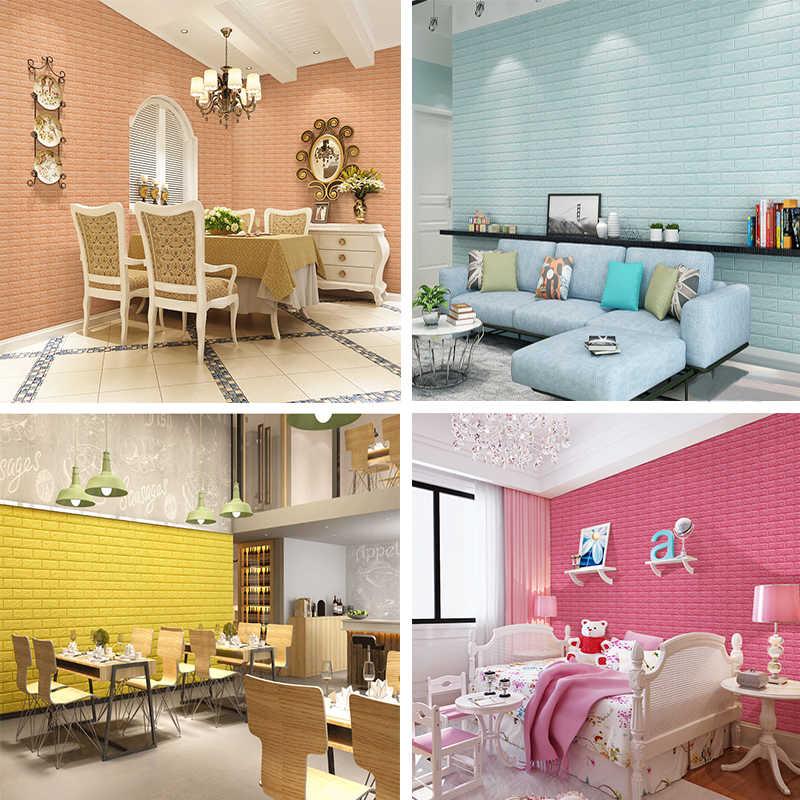 3d Wall Panel Stickers Living Room 3d Brick Wallpaper - 3d Wall Bricks Design Bedroom - HD Wallpaper