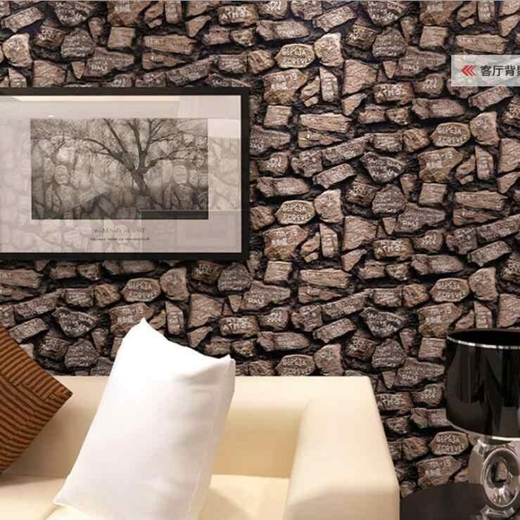 3d Antique Brick Stone Design Wallpaper Roll / Modern - Stone Design For Wall - HD Wallpaper