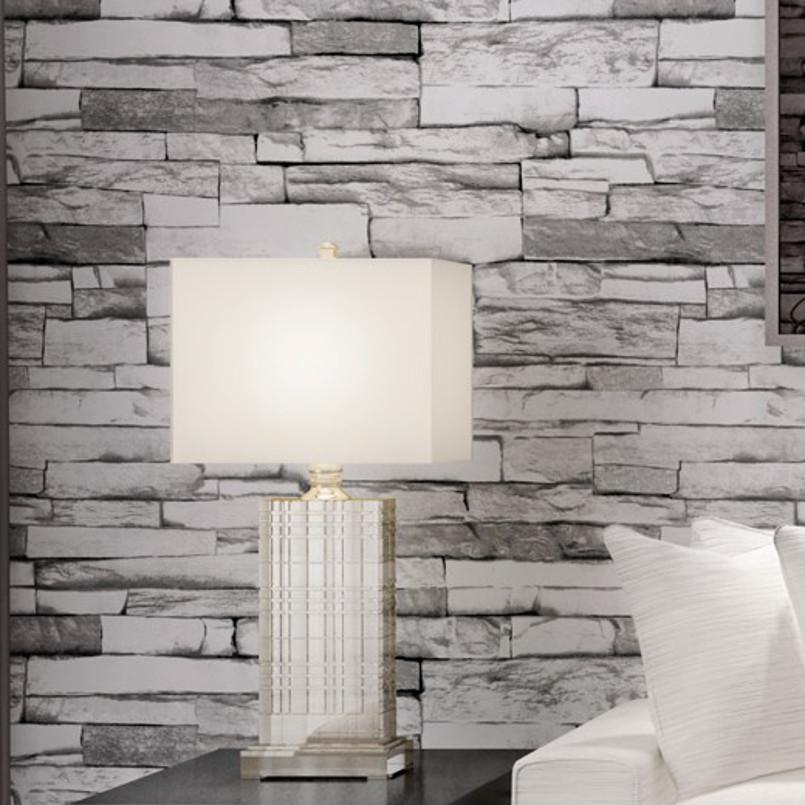 Living Room Wallcovering Embossed Stone Brick Wallpaper - 3d Bricks Wall Sticker In Philippines - HD Wallpaper