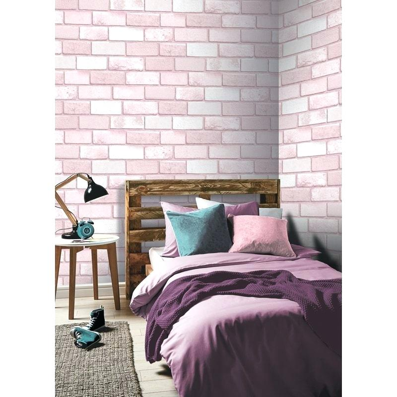 Brick Wallpaper Bedroom Click On Image To Enlarge Textured - Feature Wall Girls Bedroom - HD Wallpaper
