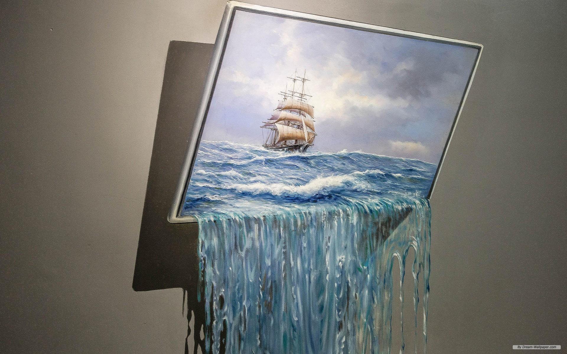 Free Art Wallpaper - Painting 3d Wallpaper Art - HD Wallpaper