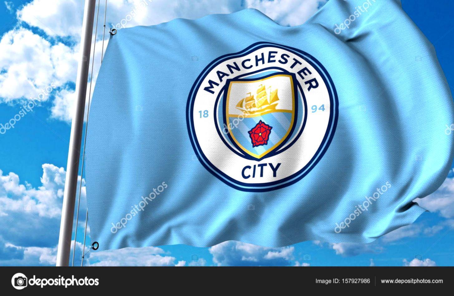 Waving Flag With Manchester City Football Team Logo Amway Logo 1456x950 Wallpaper Teahub Io