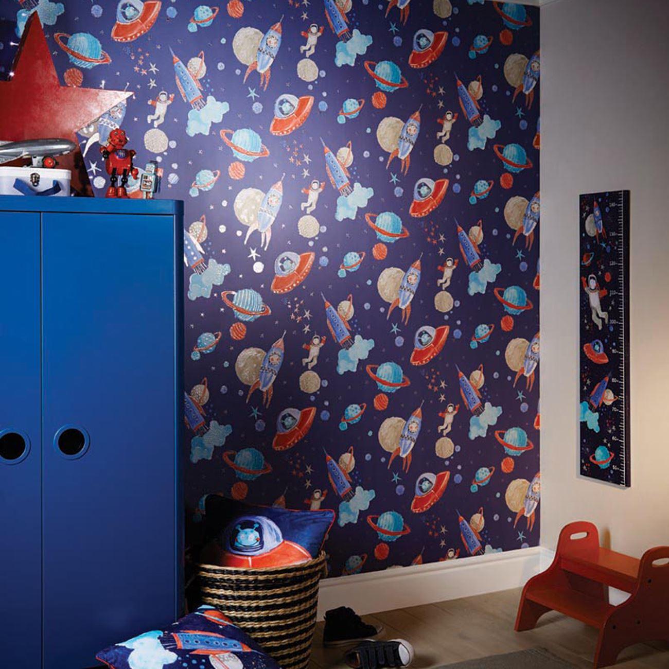 Boys Space Wallpaper Bedroom Design - HD Wallpaper