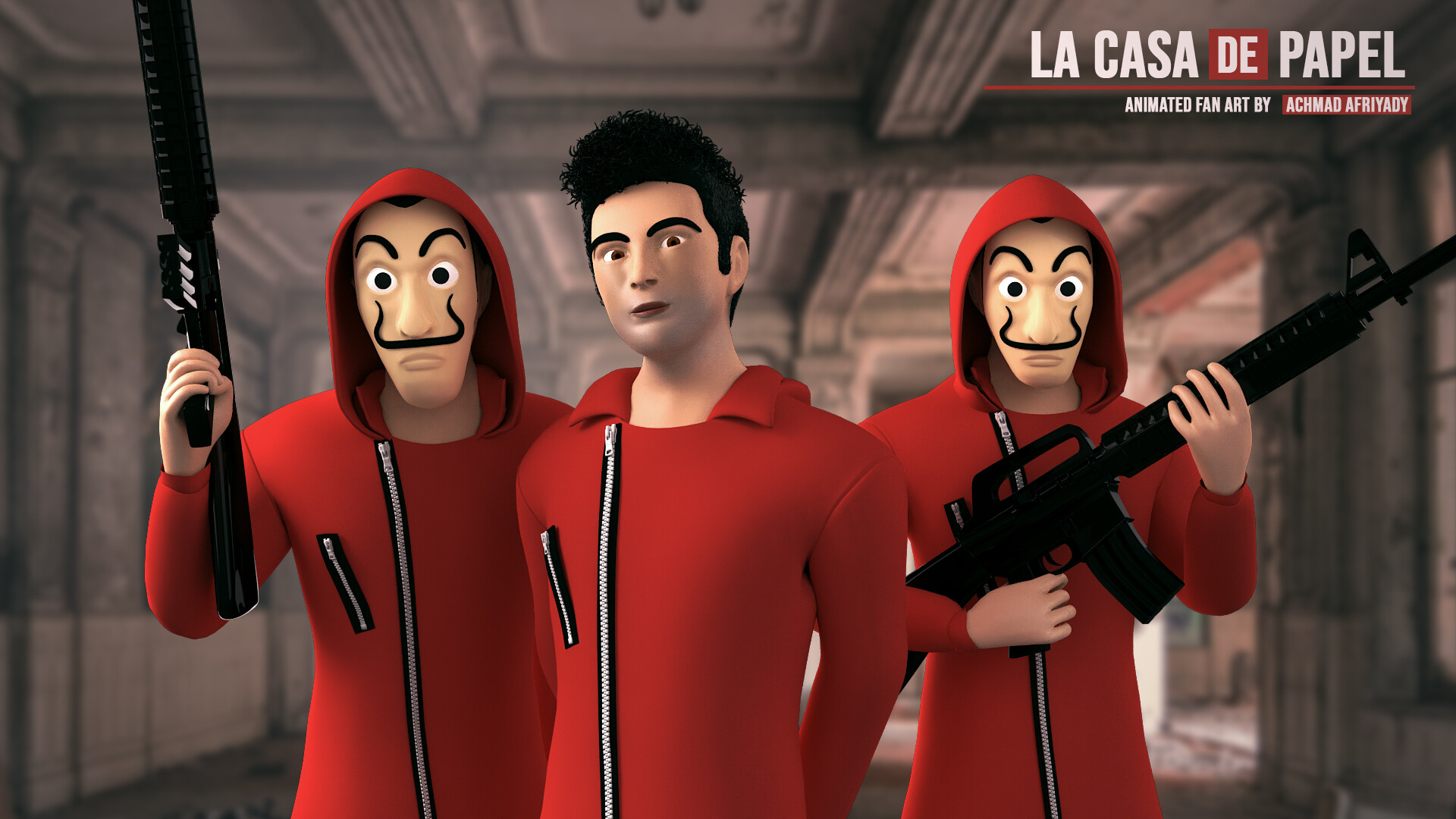 Money Heist Gun 1920x1080 Wallpaper Teahub Io