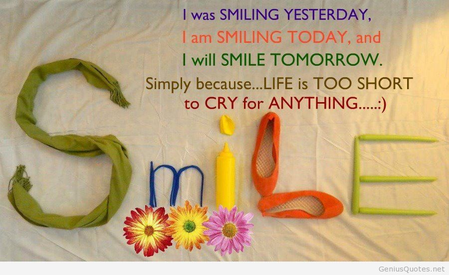 Best Happy Quotes With Wallpapers Hd Images Quote - Life Is Beautiful When You Smile - HD Wallpaper