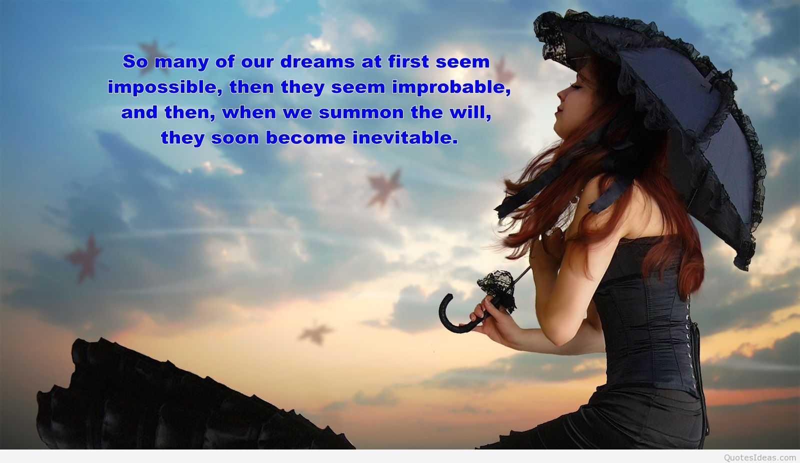 Dream Quote Wallpaper With A Girl - Girl With Dreams Quotes - HD Wallpaper