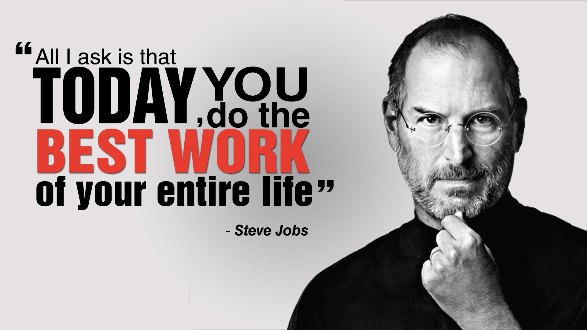 Today Your Best Work Steve Jobs - HD Wallpaper