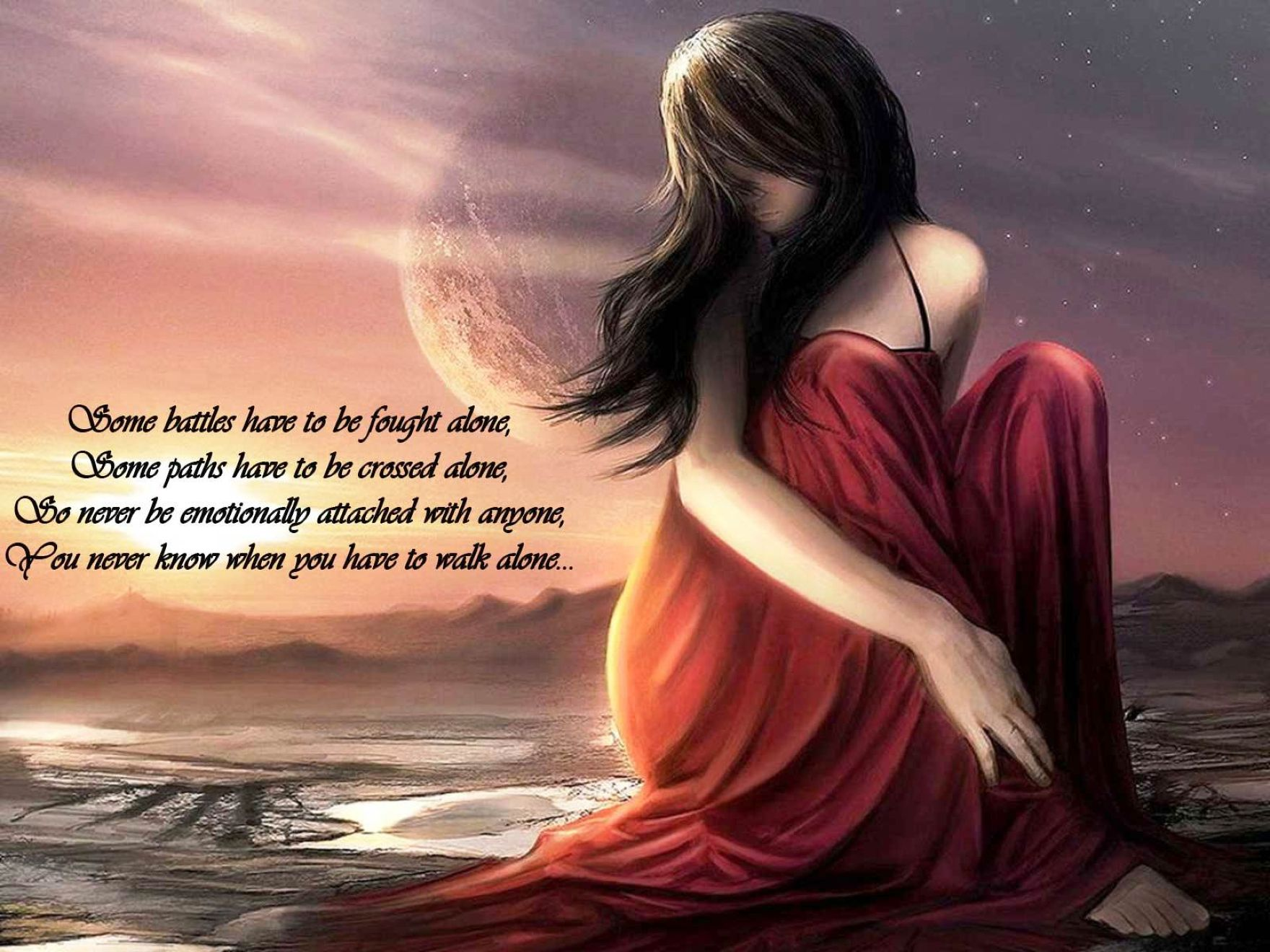 Download Free Hd Beautiful Girl Quotes Art Wallpaper, - Beautiful Girl With Quotes - HD Wallpaper