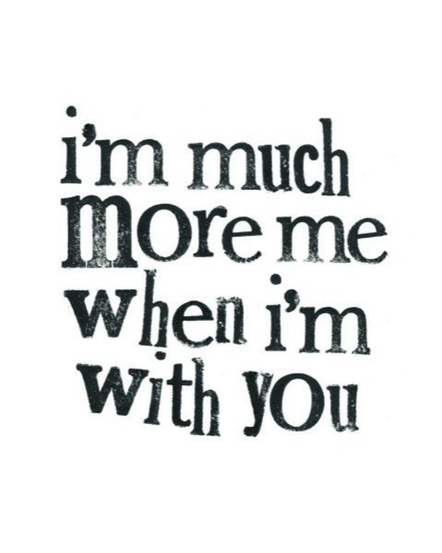 Love Quotes Collection [ - Can Be Myself When I M With You - HD Wallpaper