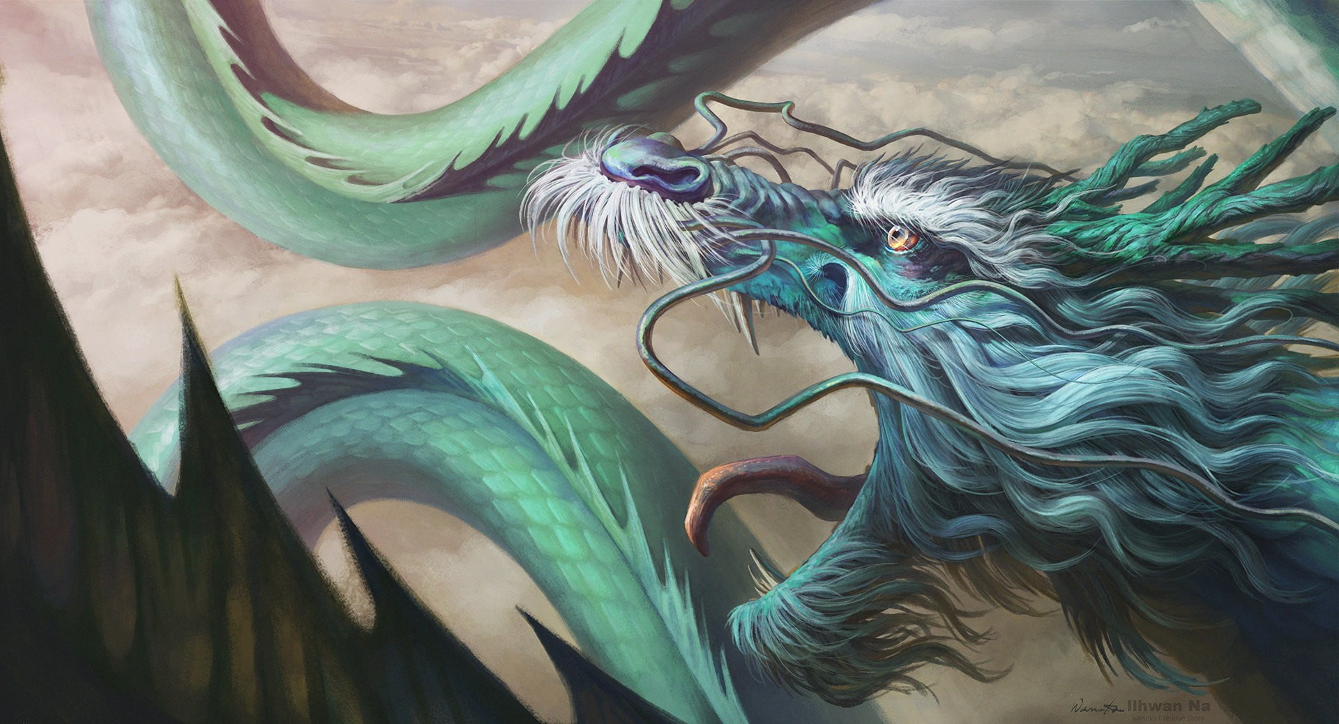 Chinese Dragon Fantasy Art - HD Wallpaper