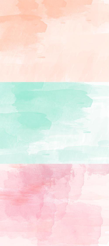 Peach And Mint Watercolor 499x1119 Wallpaper Teahub Io