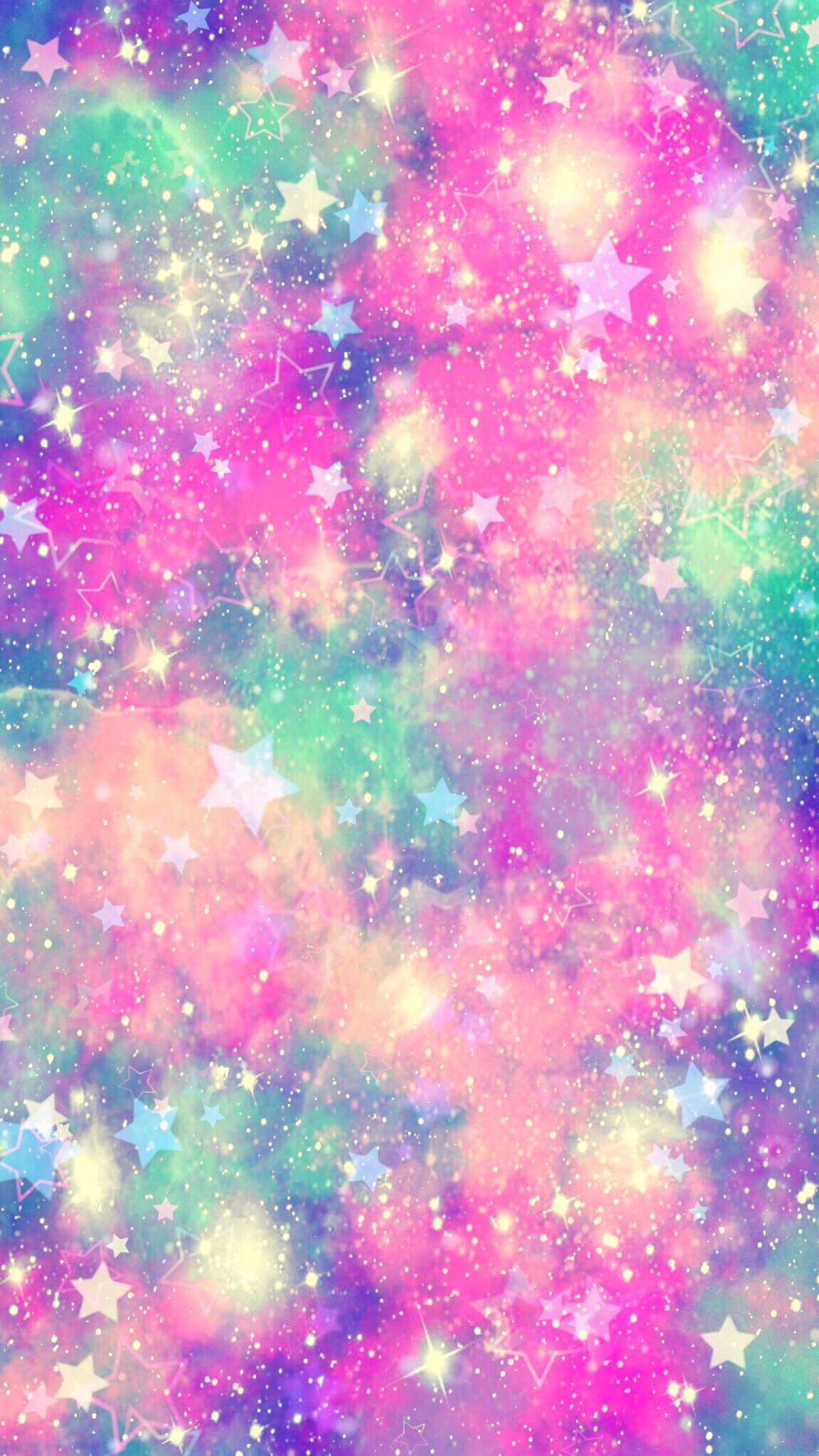 Freetoedit Glitter Galaxy Sparkle Pastel Rainbow Unicorn Wallpaper Phone 1024x1820 Wallpaper Teahub Io