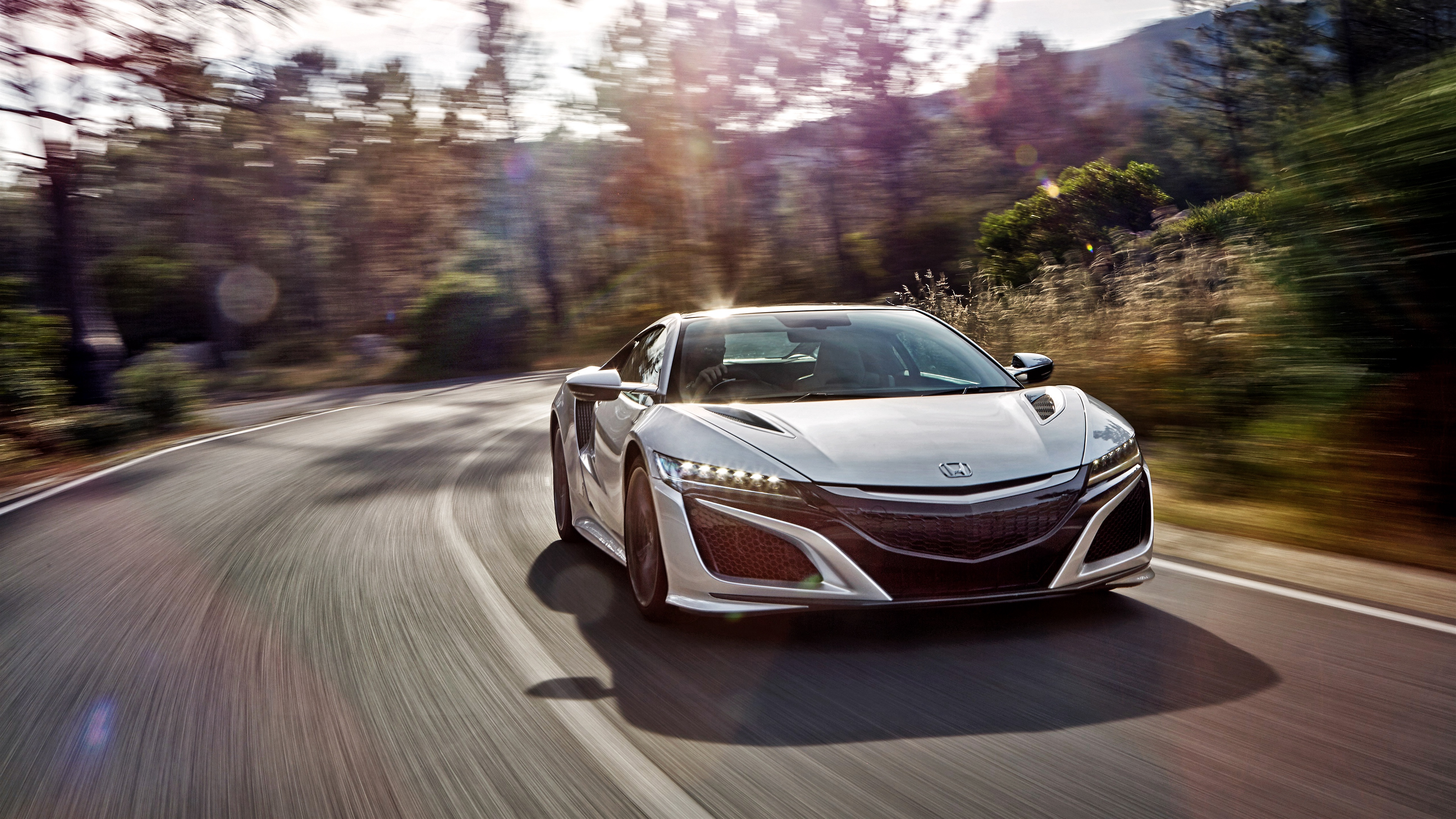Wallpaper Honda Acura Nsx Front View Speed Acura Nsx Wallpaper 4k 3840x2160 Wallpaper Teahub Io