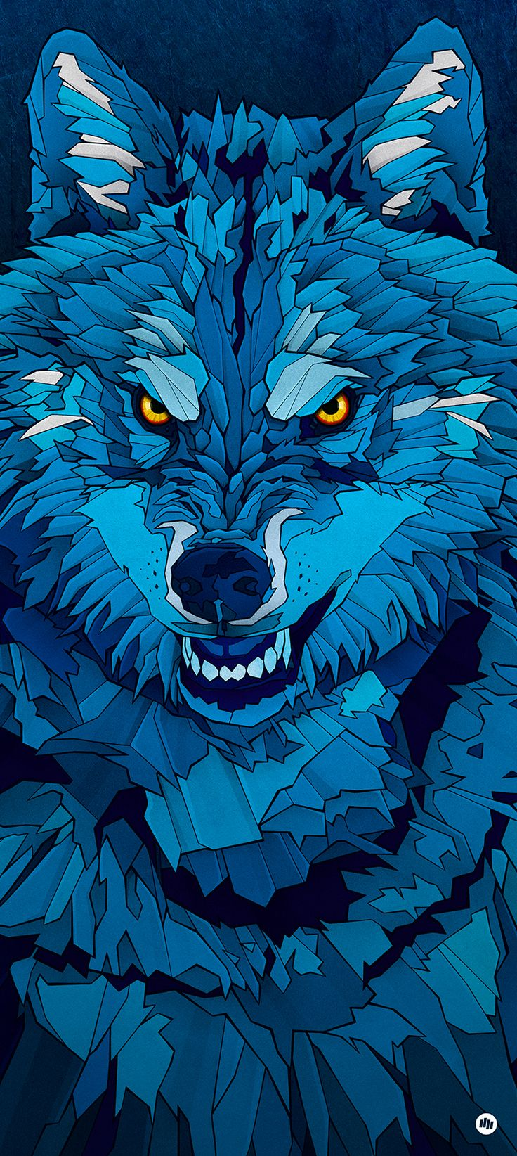 Blue Wolf 736x1644 Wallpaper Teahub Io