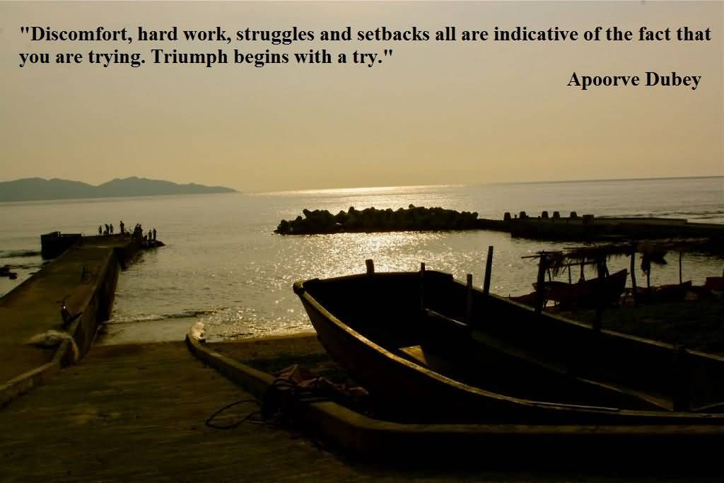 Discomfort Struggles Obstacls Challengs Becoming Stronger - Hard Struggle Quotes - HD Wallpaper