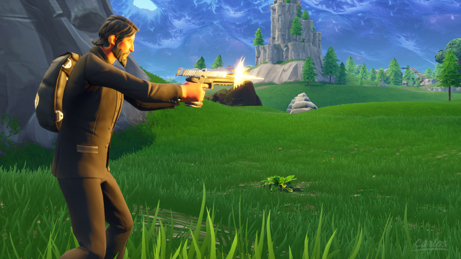 John Wick Fortnite In Game 1600x900 Wallpaper Teahub Io