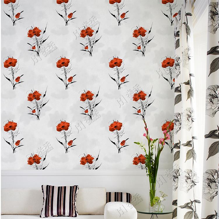 Natural Flower Design Wall Paper Living Room Wall Decorative - 3d Wallpaper Design For Wall - HD Wallpaper