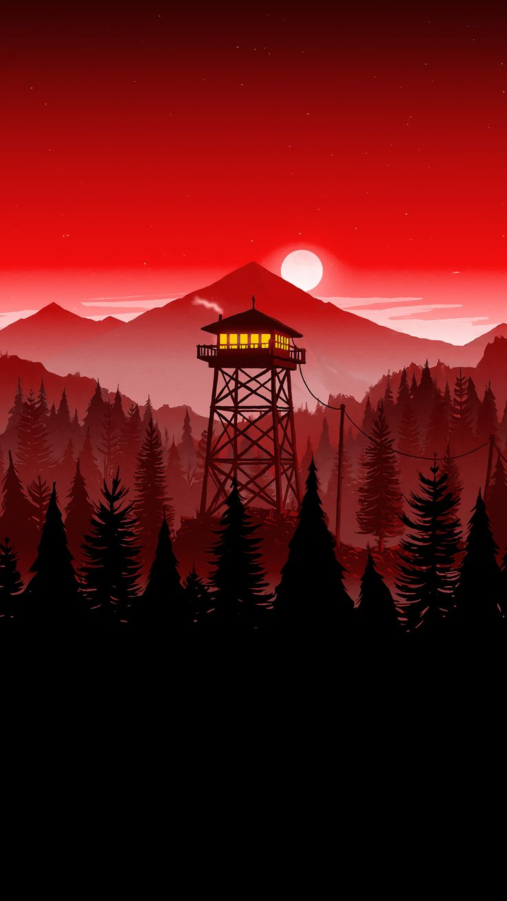 Firewatch Tower 1440x2560 I Firewatch Wallpaper Phone 736x1308 Wallpaper Teahub Io
