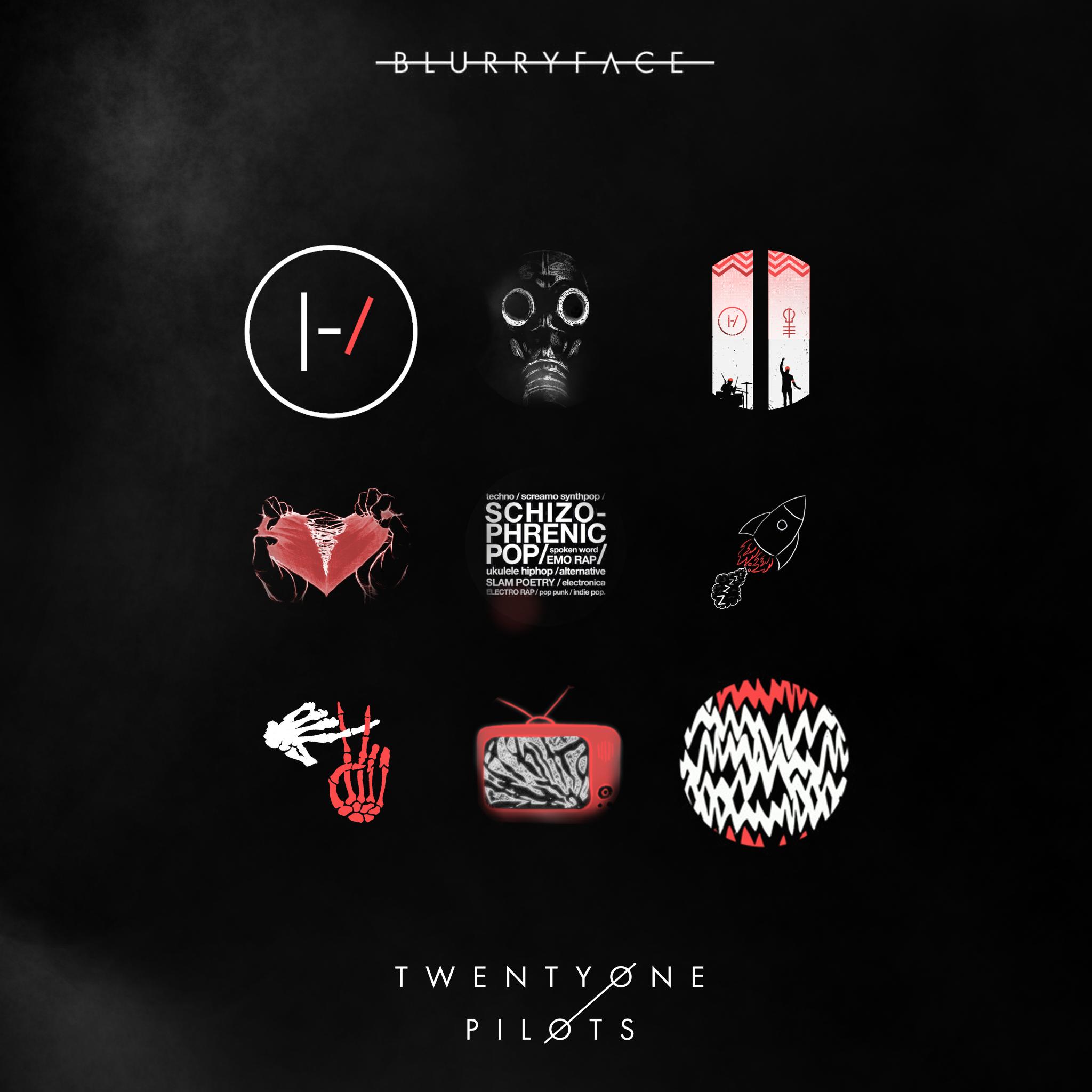 Twenty One Pilots Blurryface Art - HD Wallpaper