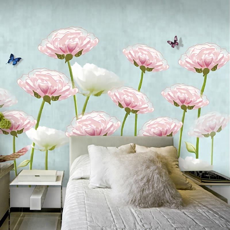 Various Floral Designs 3d Wall Poster Wallpaper Wall - Simple Color Wallpaper For Wall - HD Wallpaper