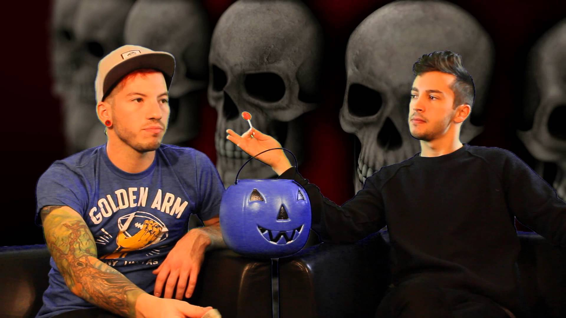 Twenty One Pilots Desktop Background - Josh Dun And Tyler Joseph Halloween - HD Wallpaper