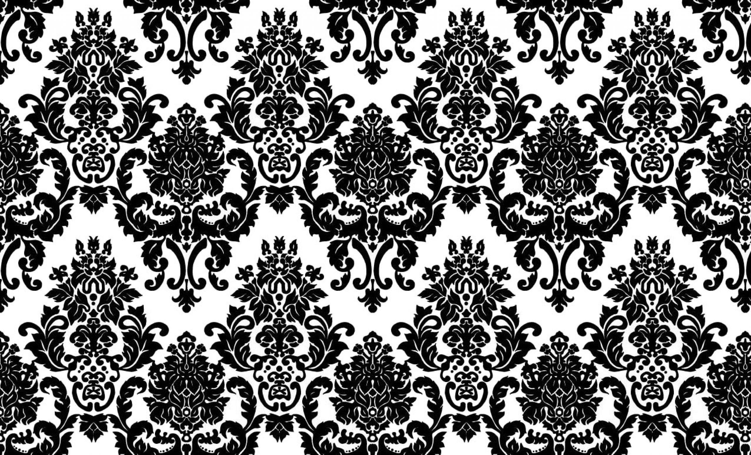 2560x1552, New White And Black Pattern Wallpaper The - Damask Desktop Background  Hd - 2560x1552 Wallpaper - Teahub.io
