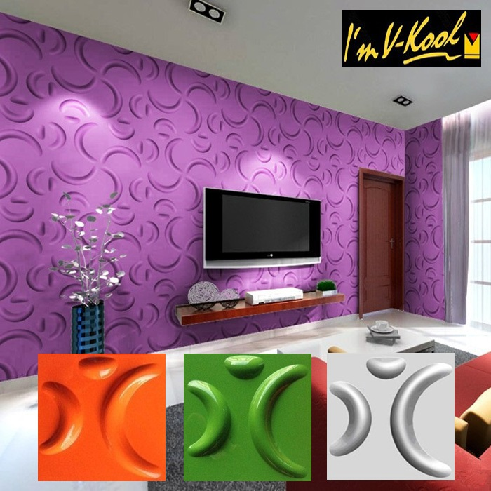 Three-dimensional Plate Clothing Store Beauty Salon - One Wall Design For Living Room - HD Wallpaper