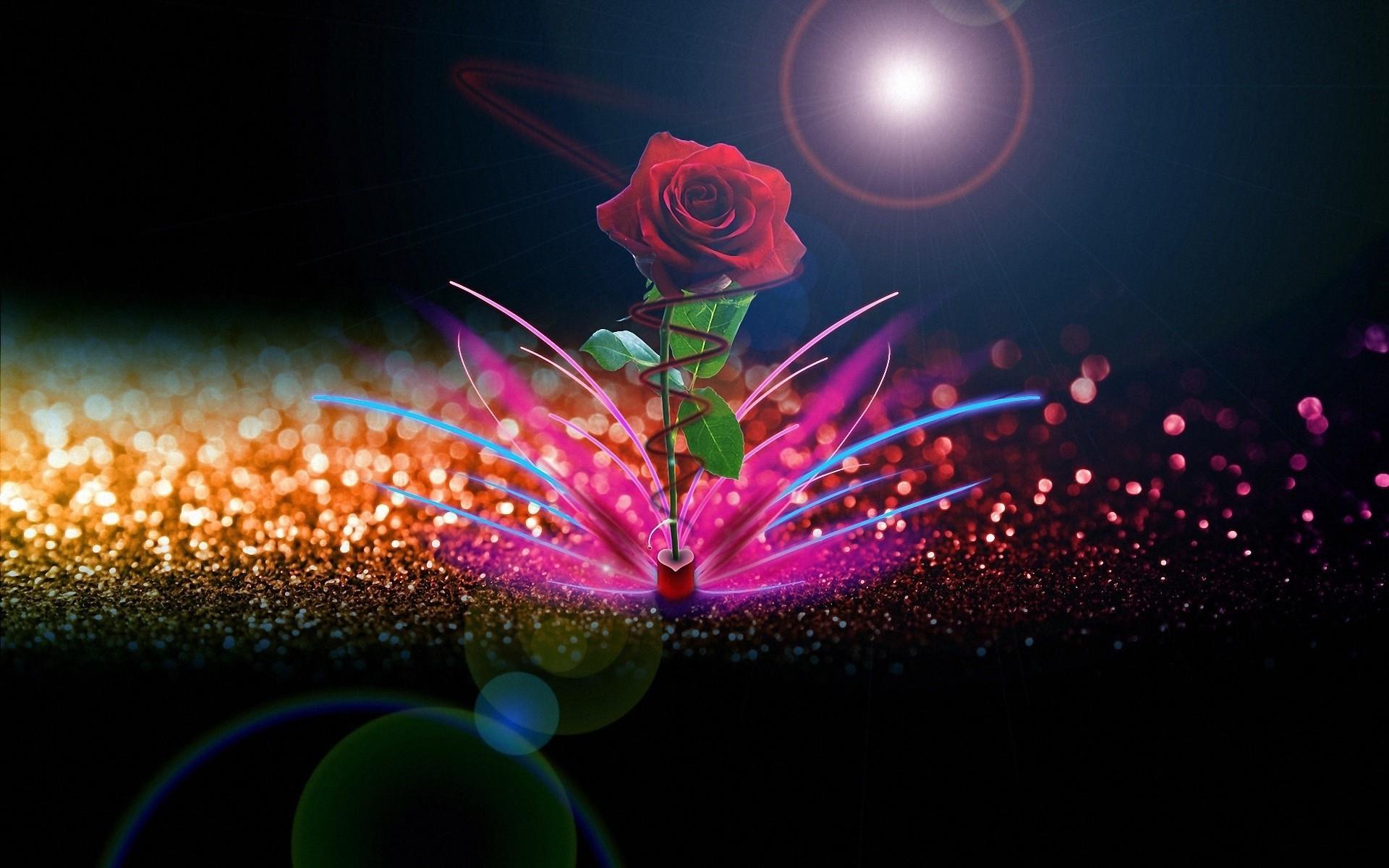 Rose Love Wallpaper Good Night   Data Src Red Rose - Beautiful Full Hd Roses - HD Wallpaper