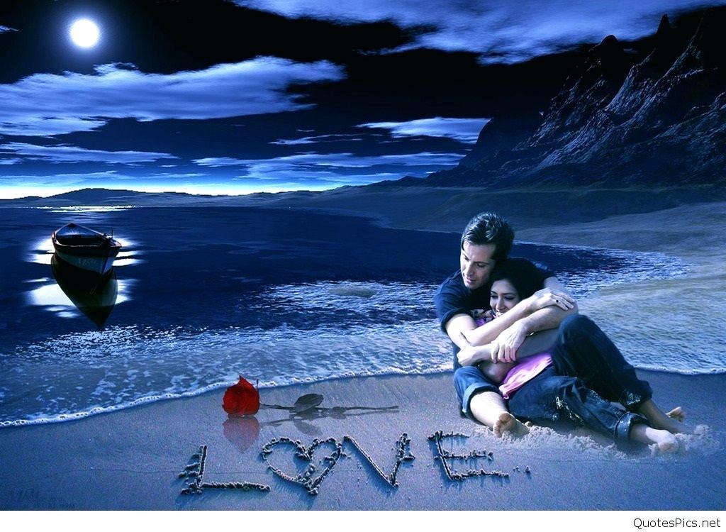 Love Couple Good Night - HD Wallpaper