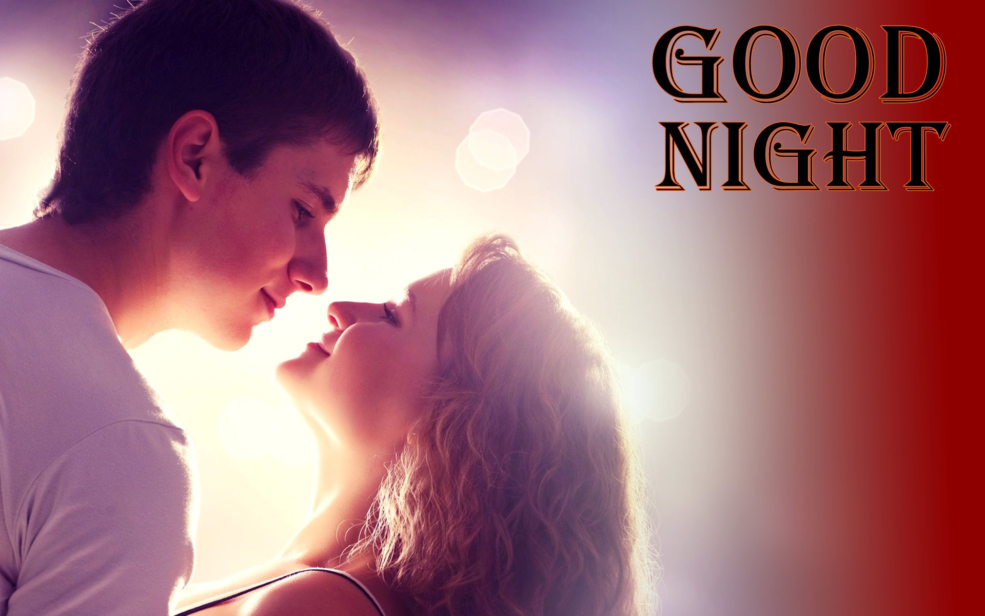 Romantic Love Good Night - HD Wallpaper