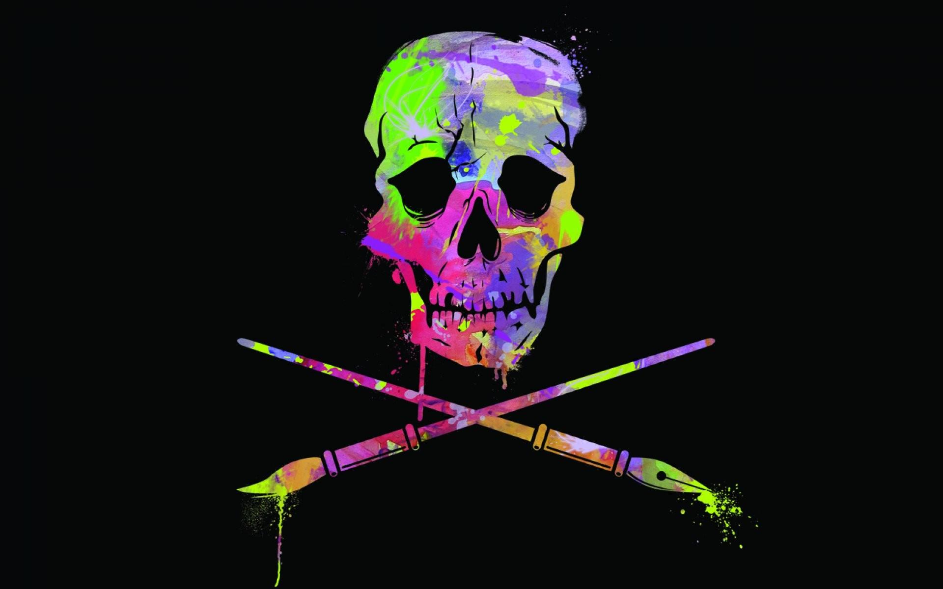 Dark Skull Evil Horror Skulls Art Artwork Skeleton - Wallpaper - HD Wallpaper