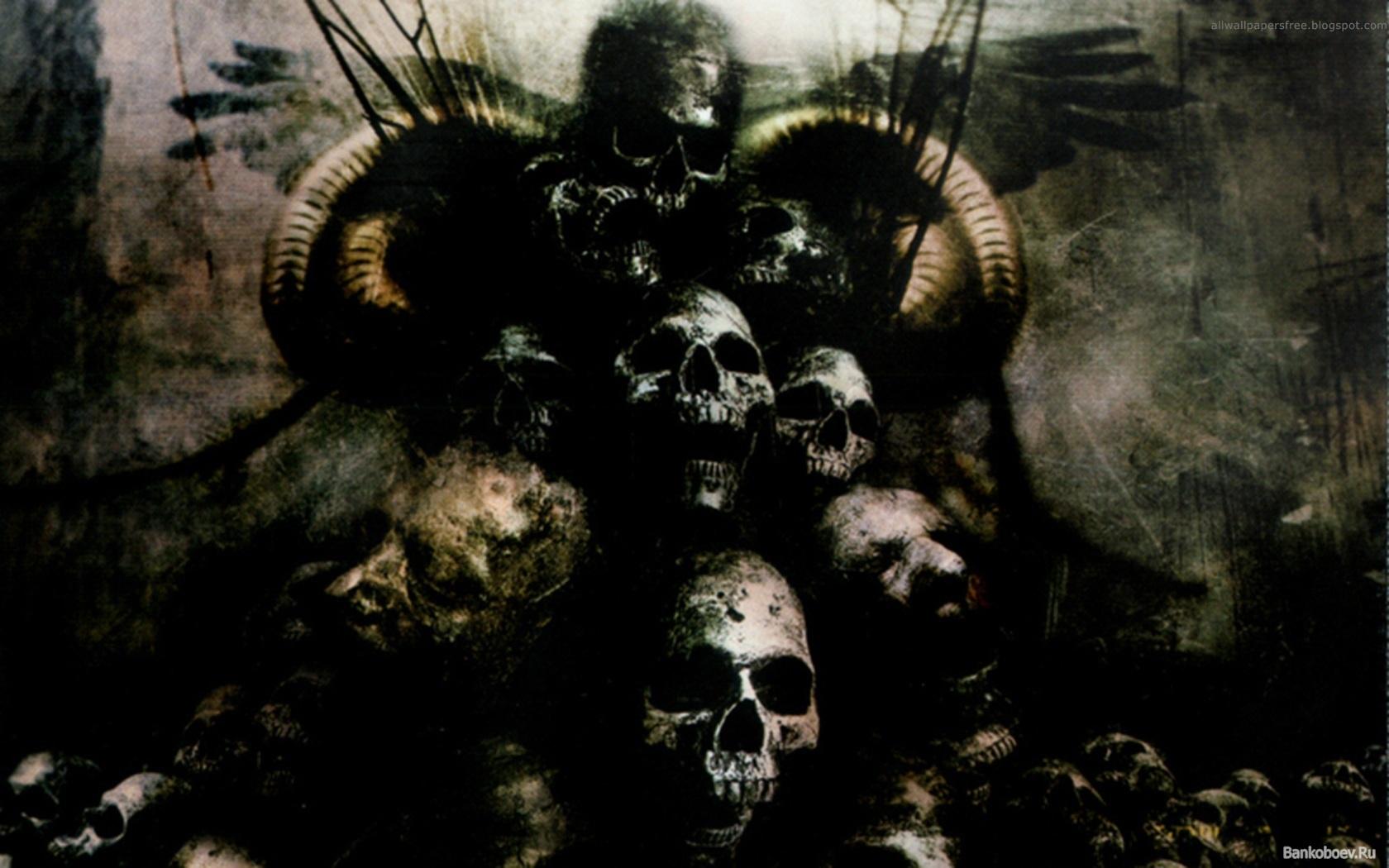Dark Skulls - HD Wallpaper