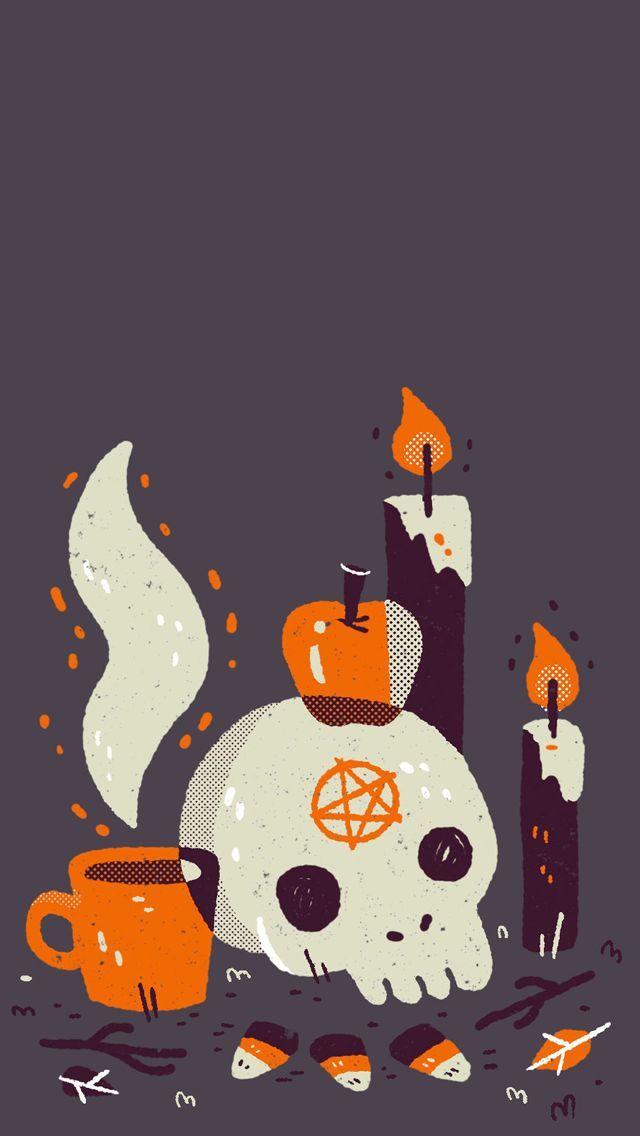 Cute Aesthetic Halloween Lockscreen - HD Wallpaper