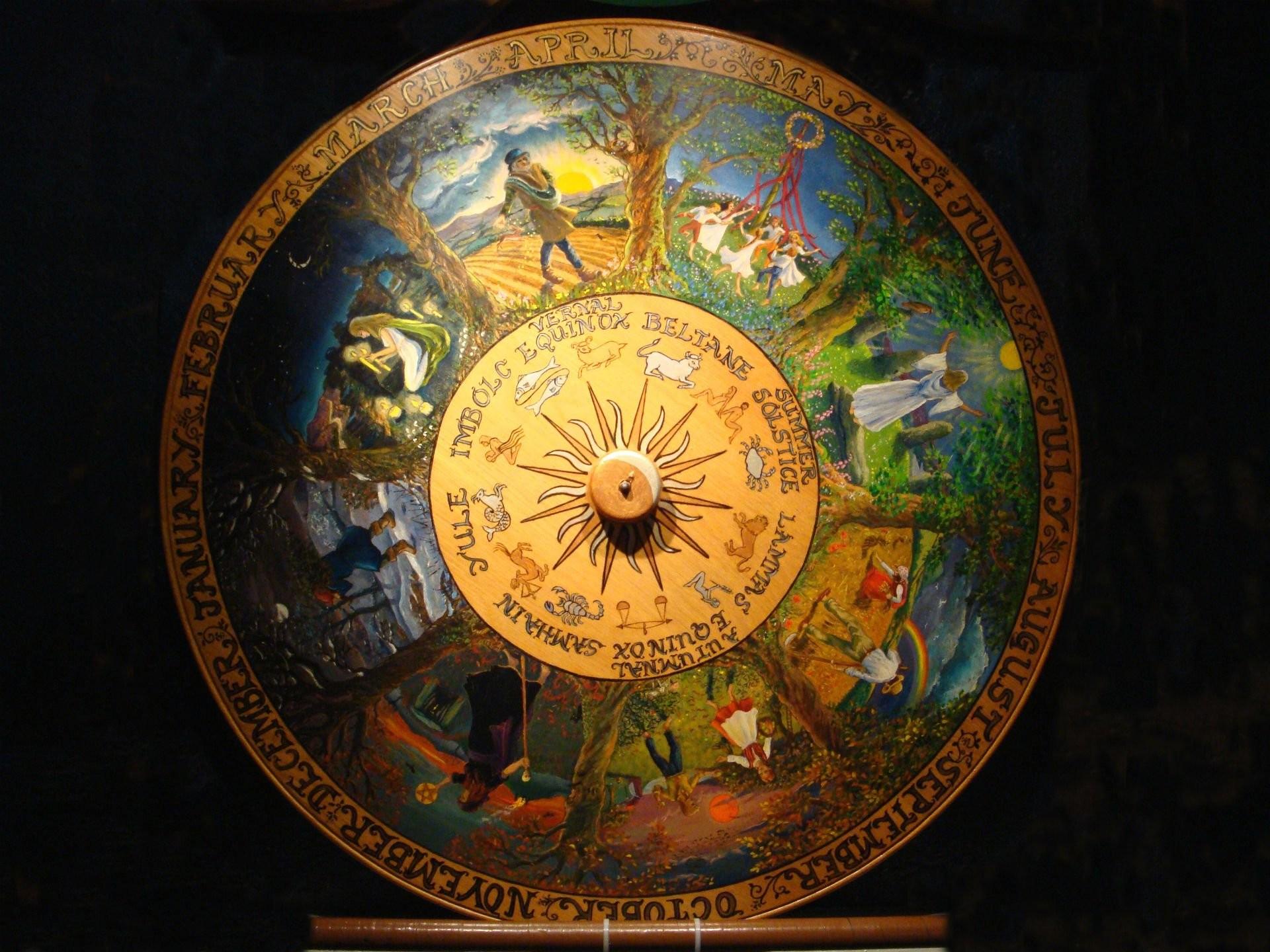 Art, Spooky Fantasy, Halloween, Artwork, Horror, Abstract - Wheel Of The Year Druid - HD Wallpaper
