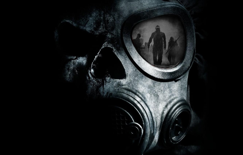 Photo Wallpaper Night, Reflection, Death, People, Fear, - Dark Gas Mask Art - HD Wallpaper