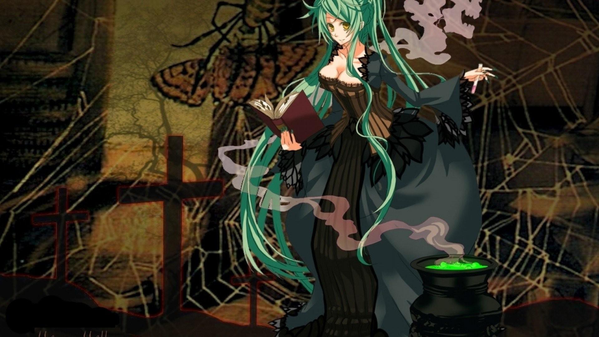 Halloween Wallpaper Halloween Witch - Anime Wallpapers Full Hd Halloween - HD Wallpaper
