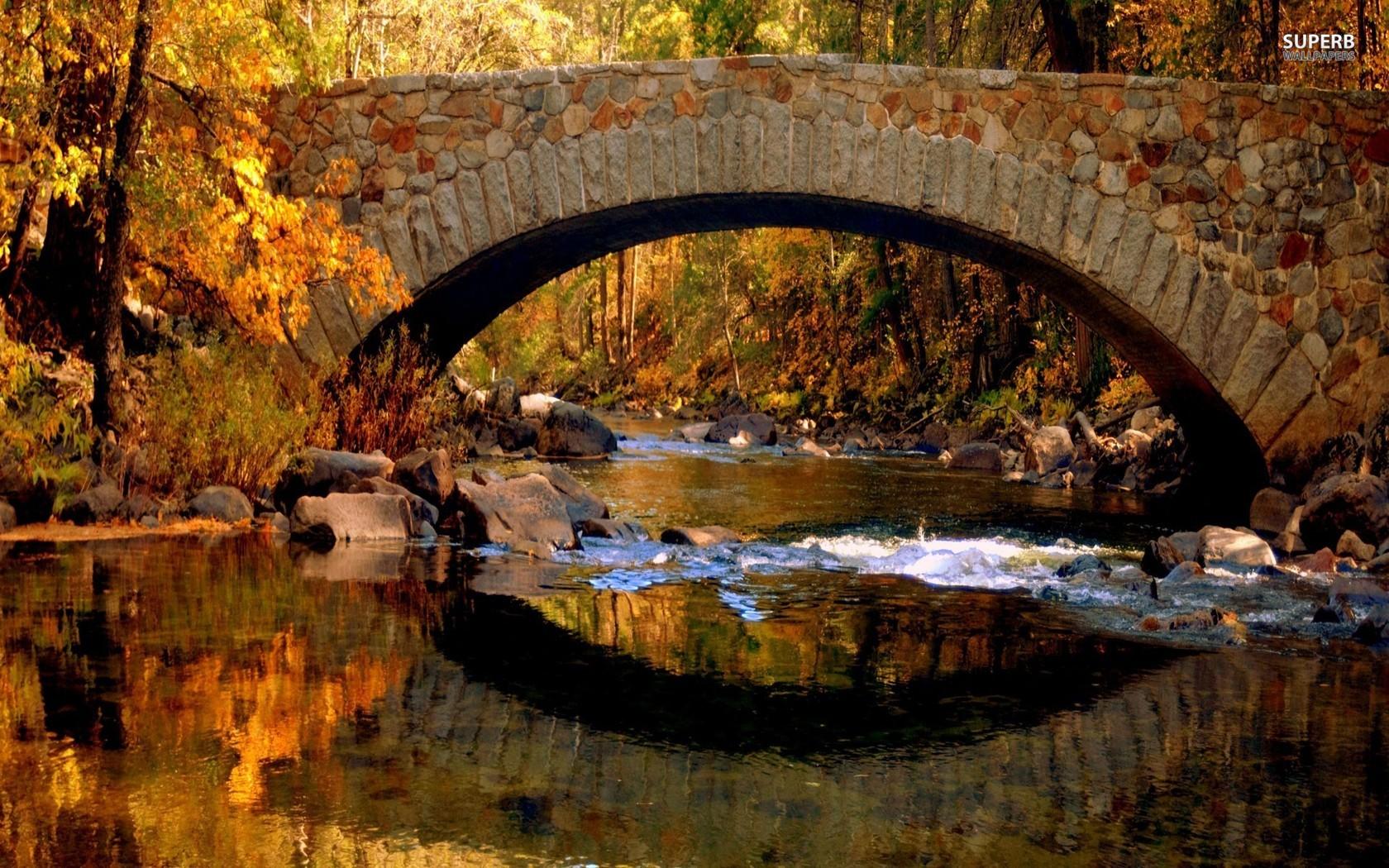 Covered Bridge Autumn Screensavers 1680x1050 Wallpaper Teahub Io