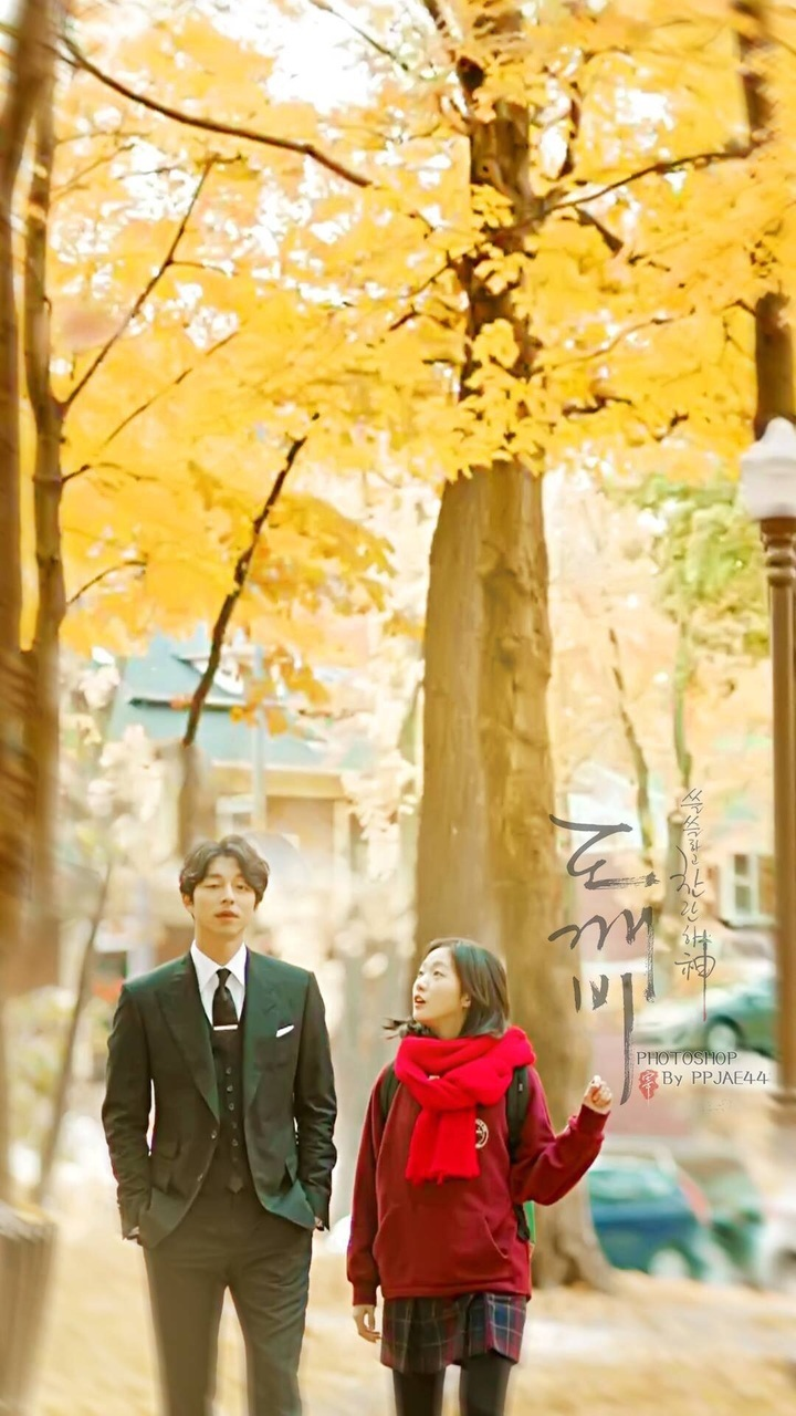 Couple, Goblin, And Iphone Wallpaper Image - Goblin Korean Film In Canada - HD Wallpaper