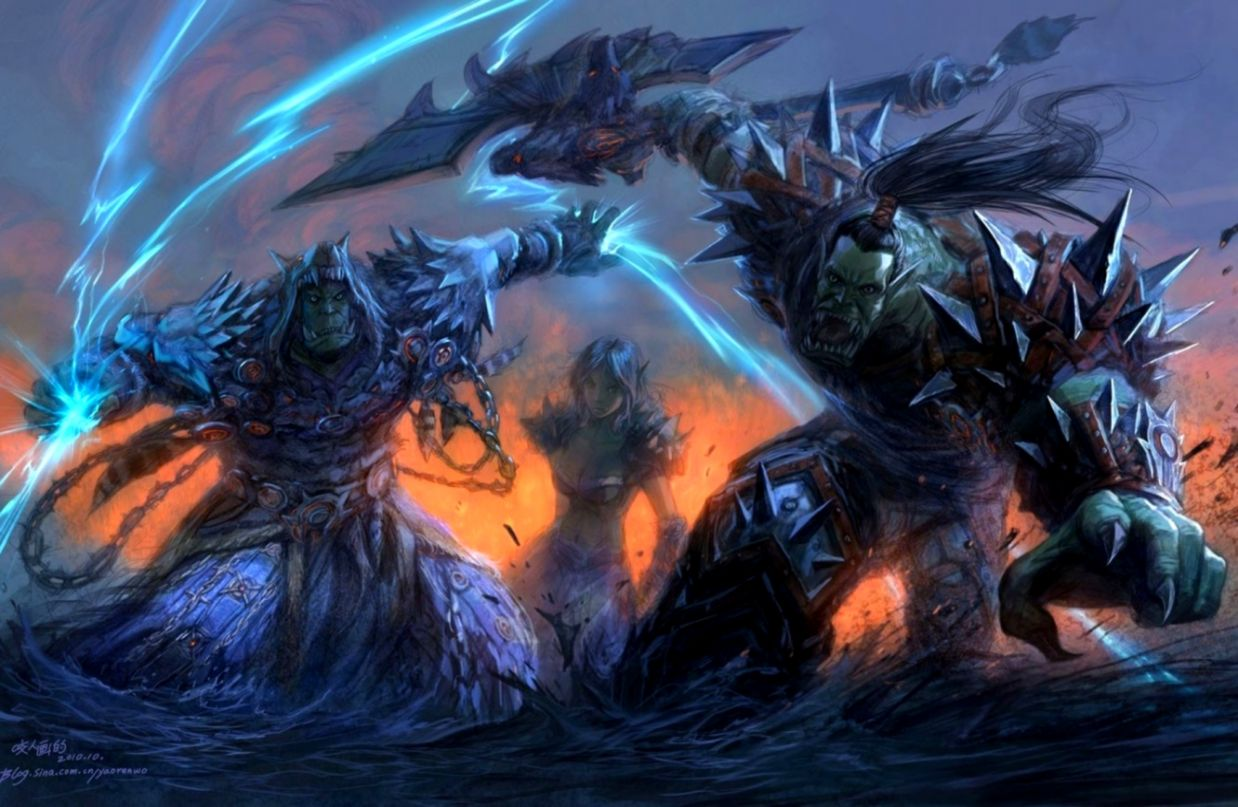 Wallpaper Warrior Orcs Wow Horde World Of Warcraft Wow Shaman Wallpaper Hd 1238x807 Wallpaper Teahub Io
